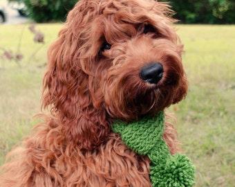 Custom Dog Scarf Hand Knit