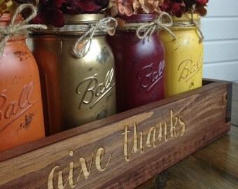 Rustic fall centerpiece, Thanksgiving centerpiece, Wood Box Centerpiece, Fall decor, Country decor
