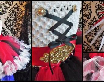 Pirate Tutu Dress/Petti Tutu Dress/Pirate Tutu Dress/Pirate Dress/ Pirate Tutu/Petti Dress/Petti tutu/Red Tutu Dress/Pirate Costume