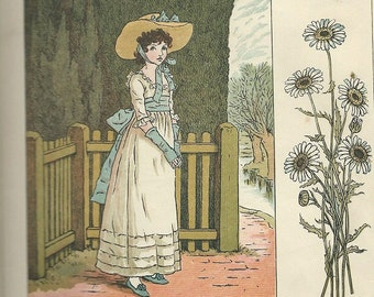 Kate Greenaway marigold garden ladies and children downloads