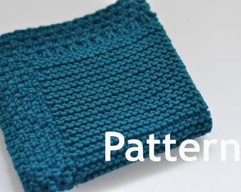 Washcloth / Dishcloth Knitting PATTERN - Courtyard