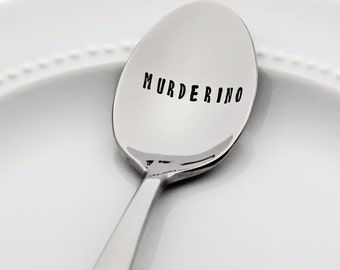 Murderino | (inspired by the My favorite Murder podcast) | Stainless Steel Stamped Spoon | Stay Sexy | Gift under 20 | True Crime