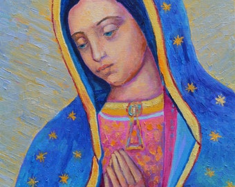 Blessed mother etsy - Cuadros religiosos modernos ...