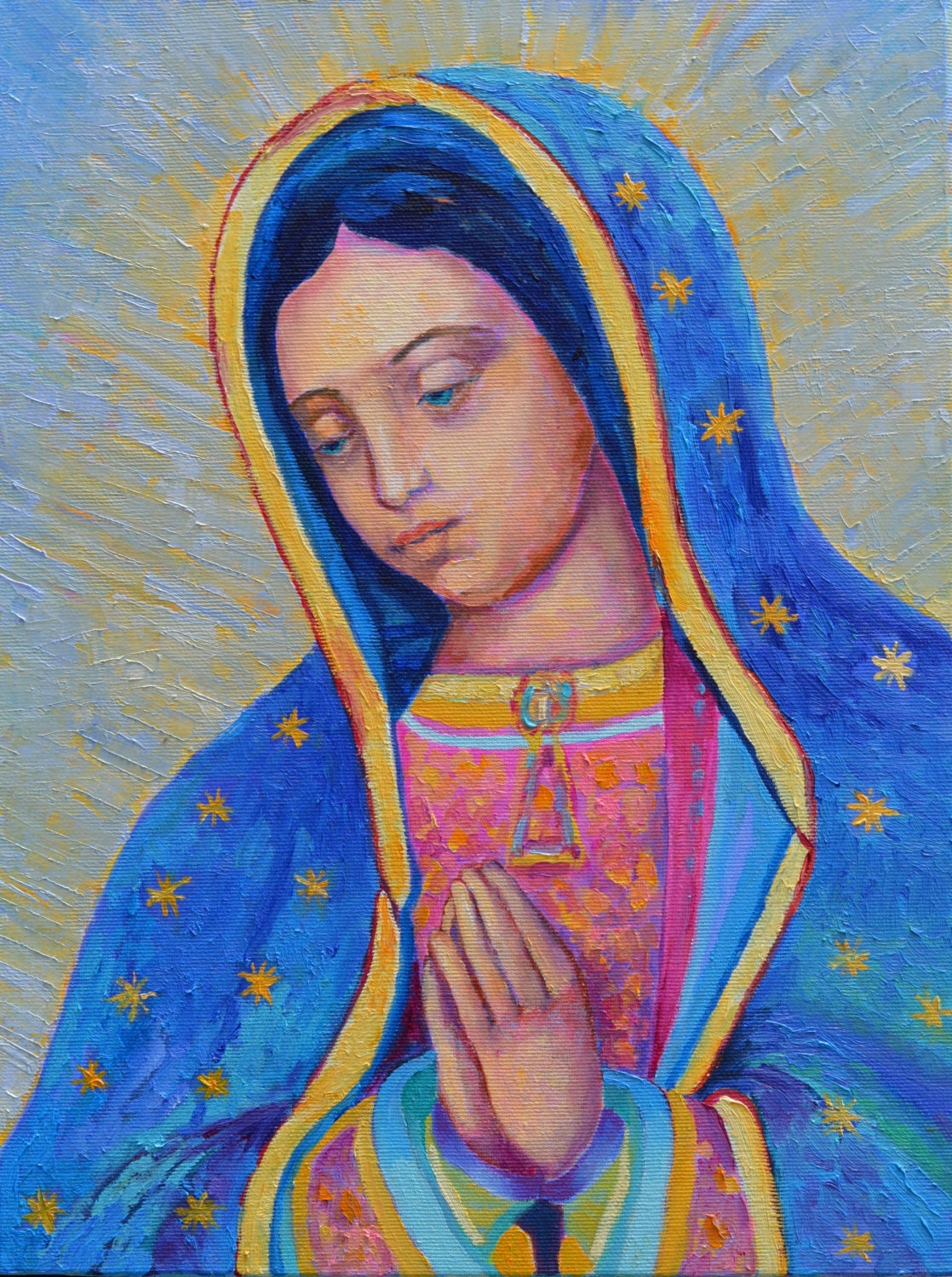 our lady of guadalupe painting virgen de guadalupe painting