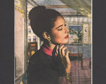 Vogue magazine ad, jewelry, matted or unmatted - PD000818