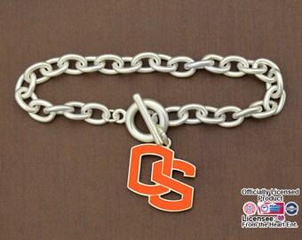 Oregon State Beavers Epoxy Logo Toggle Bracelet