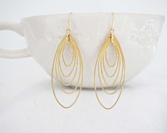 Gold Layered Teardrop Earrings
