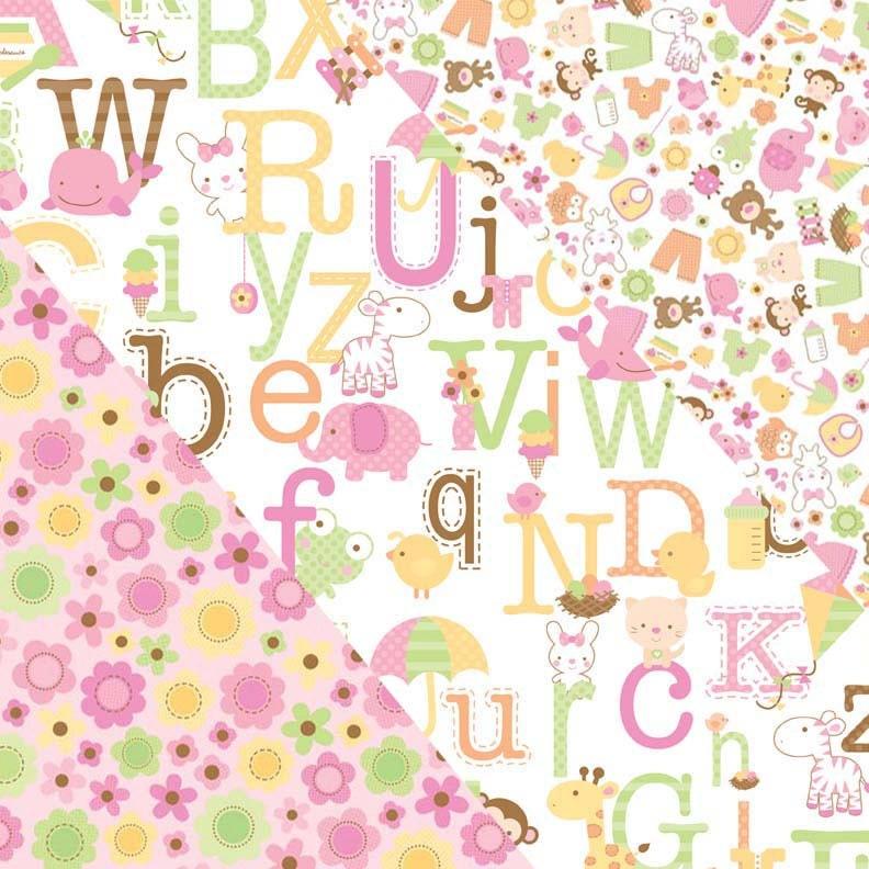 Sweet baby girl fabric bundle for Baby girl fabric