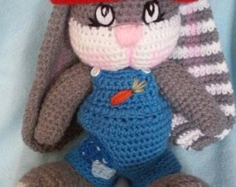 Crochet Mr Boy Bunny Amigurumi Pattern only