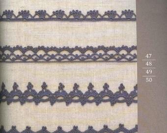 100 Crochet Edging Patterns - Crochet Border Patterns - Crochet Lace - Crochet Patterns - japanese crochet ebook - PDF - digital download