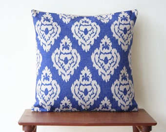 """18""""x18"""" Damask Decorative Pillow Cover Pillow Case Cushion Cover Moroccan Blue Geometric 86"""