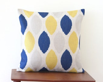 "18""x18"" Decorative Pillow Cover Geometric Pattern Yellow Blue Dots Cushion Cover Throw Cushion Cover 80"