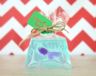 Unique Stocking Stuffer for Kids - Funny Stocking Stuffer - Fish in a Bag Soap - Stocking Stuffers for Children - Gag Gift - Novelty Soap