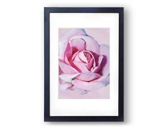 Flower Art Rose Art Rose Painting Pink Rose Bathroom Art Instant Download Floral Art Floral Painting Floral Print Flower Print Rose Print