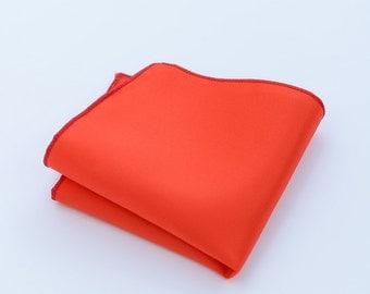 Red Pocket Square.Mens Pocket Squares.Silk Pocket Squares.Wedding Pocket Square.