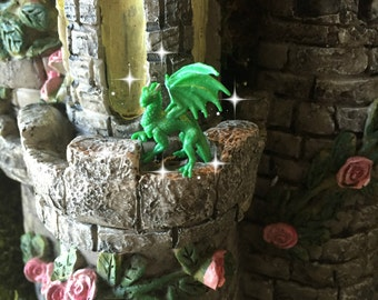 Fairy garden, fairy tale, fairy dragon, micro mini dragon, TINY dragon, green dragon