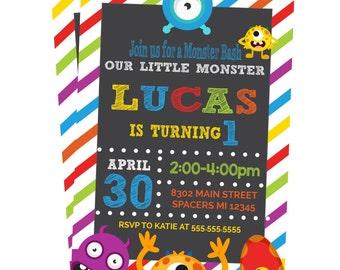 Monster Invitation / Monster Birthday Party Invite