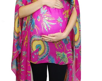 Womens Ladies Maternity Fashion Shawl Tunic Poncho Abstract Cover Up Scarf Top Free Shipping