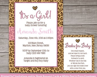 cheetah print baby shower invitation for a girl leopard baby shower invitation cheetah pattern