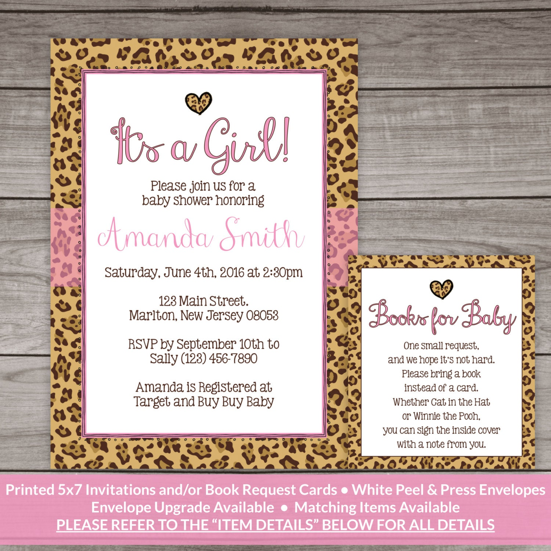 Cheetah Print Baby Shower Invitations catering menu template free