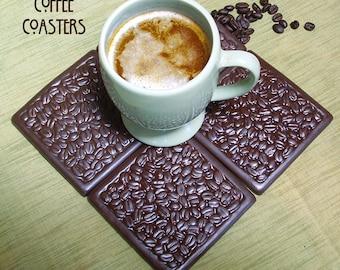 4 Coffee Coasters/ Espresso coasters/tile coaster set