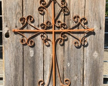 Cross on Old Fence Wood - Sign