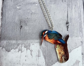 Kingfisher Bird Necklace
