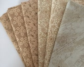 Low Volume, Brown/Tan, 6 Fat Quarter Bundle, Crafting, Quilting, Sewing Fabric
