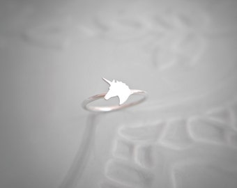 Sterling Silver Unicorn Stacking Ring