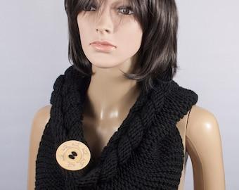 Hooded Scarf, Scarf Hood, scarf hooded, Chunky scarf, Wool cowl by LoveKnittings