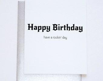 Birthday Letterpress- Rockin' Birthday Card