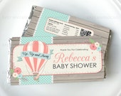Hot Air Balloon Chocolate Wrapper Personalised Baby Shower Birthday Party Digital Printable