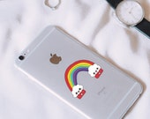 Rainbow Sticker • Journal Planner Decal • Small Size • Kawaii Cupcake Smile • Cute Laptop Sticker • Fun Original Doodle • Gay Pride Rainbow