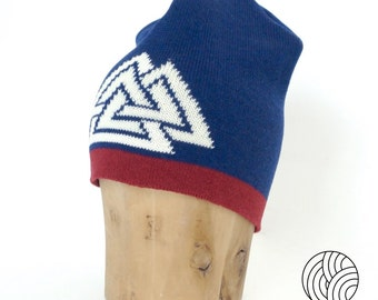 Beanie with the Valknut Symbol of the norse god Odin