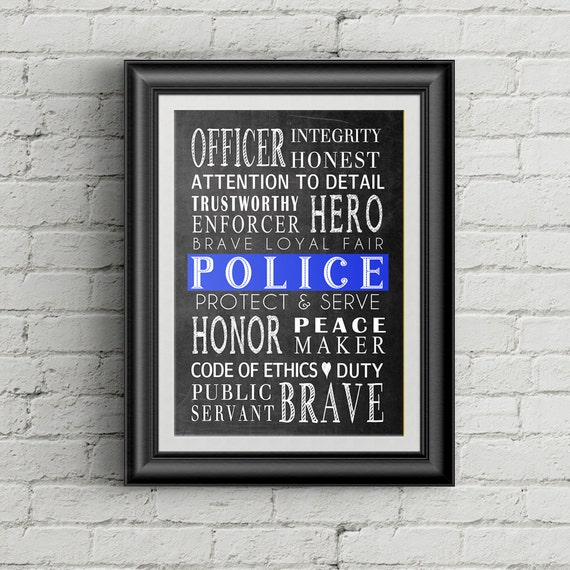 Thin Blue Line Police Officer Gift Law Enforcement Officer