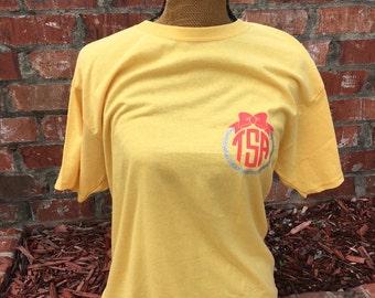 Circle Monogram With Border & Bow Shirt | Monogram T Shirt | Circle Monogram Shirt | Bow Monogram Shirt