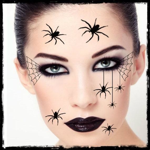 temporary tattoo spider halloween costume face spiders fake