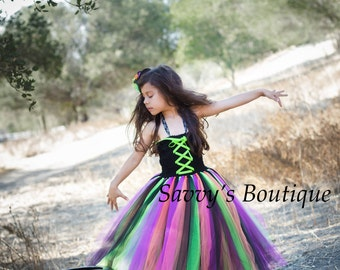 Witch Tutu Dress - Witch Costume - Halloween Costume - Party Dress - Girls Costumes - Tutu Dress - Costumes