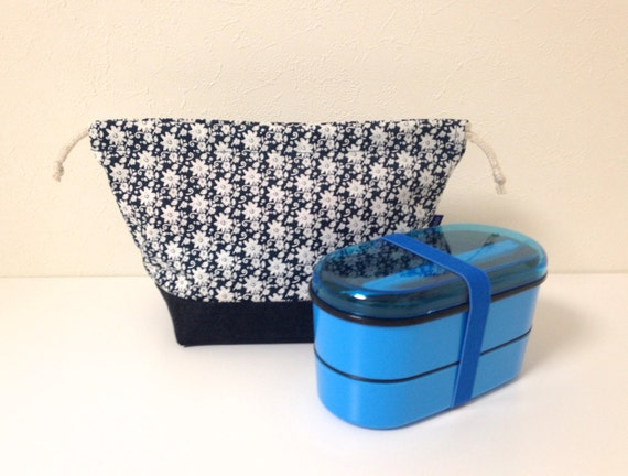 bento bag indigo rose print bento box set lunch set lunch. Black Bedroom Furniture Sets. Home Design Ideas