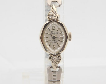 Vintage Meyers Ladies 14K White Gold Wrist Watch