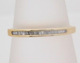 0.13 Carat T.W. Ladies Baguette Cut Diamond Band 10K