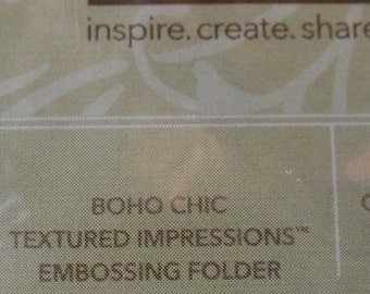 Boho Chic Texture Impressions Embossing Folder - Stampin' Up! - one piece NIP