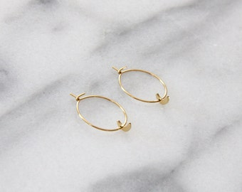 Moon Hoop Earrings - M3502