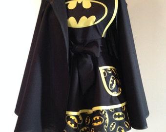 Bat apron and cape - Retro Apron