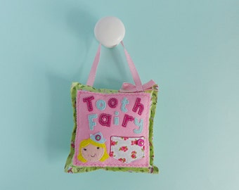 Tooth Fairy Pillow - tooth fairy pouch - tooth fairy tradition - gift for child - childs room decor - tooth fairy cushion - presents felt