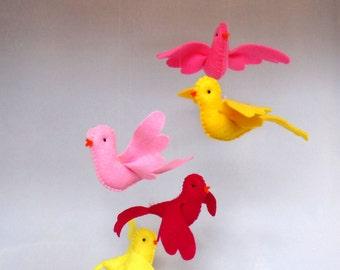 handmade mobile flying birds