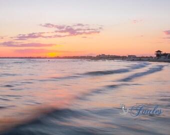 Day's End ~ Narragansett, Rhode Island, Roger Wheeler Beach, Galilee, Coastal, Nautical Photography, Home Decor, Wall Art, Beach Stones