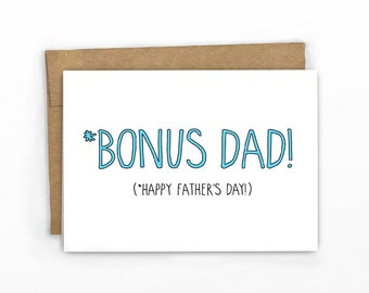 Stepdad Father's Day Card ~ Father-in-Law ~ Bonus Dad by Cypress Card Co.