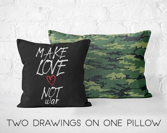 Pillow Cover Throw Pillow Decorative PillowCase Quote Pillow Army Pillow Military PillowCase Pillow Case Designer Cushion Pillow Custom Gift