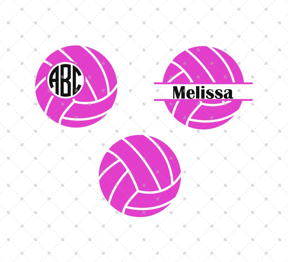 Volleyball Svg Cut Files Volleyball Monogram Frames Cut